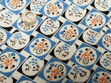 Best Vintage Feedsack Quilt Fabric 40s Dainty Floral On Blue Flour Full Sack