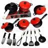 Kids Play Toy Kitchen Cooking Food Utensils Pans Pots Cookware Supplies Novelty