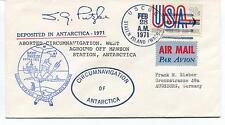 1971 Deep Freeze Staten Island Circumnavig. Antarctica Mawson Polar Cover SIGNED