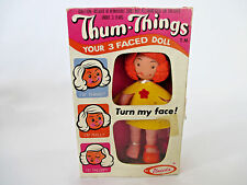 Vintage 1973 THUM-THINGS 3 Faced Doll NEW IN PACKAGE Uneeda Girls Redhead Toy
