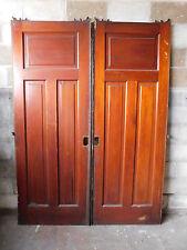 Antique Craftsman Style Pocket Doors - Circa 1910 Fir Architectural Salvage