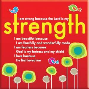 Lord Is My Strength Fridge Magnet Ideal Christian Gift Birthday Christmas Bible
