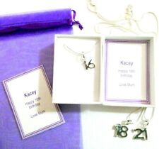 16th 18th 21st Birthday Necklace Keepsake Gift Personalised Gift Box +Gift bag