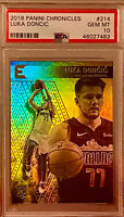 PSA 10 RC Luka Doncic 2018-19 Chronicles Essentials HOLO #214 Red Hot Rookie QTY