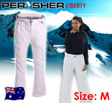 PERYSHER LIBERTY Ladies Ski & Snowboard Pants: *Snowy White* - Size Medium