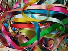 10 Metre Bundle of Mixed Ribbon Assorted Colours Plain Sort Patteren Sizes