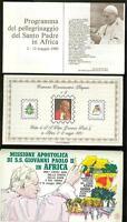 VATICAN CITY  1980 POPE JOHN PAUL II  TO AFRICA SET OF 9 FILGRANO COVERS