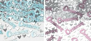 3 PACKS CHRISTENING CONFETTI PINK OR BLUE IDEAL TABLE DECORATIONS BOY OR GIRL