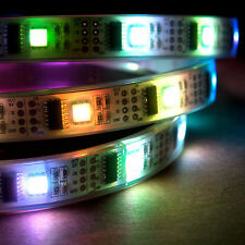 5m RGB LED Light Strip 5V WS2801 32 LEDs/meter IP68 Waterproof Addressable Color