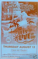 BRIAN SETZER 1999 SAN DIEGO CONCERT TOUR POSTER-Rockabilly Music, The Stray Cats