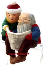 Dept. 56 Have a Seat Elves Elf & Girl Elf reading Newspaper North Pole 56437