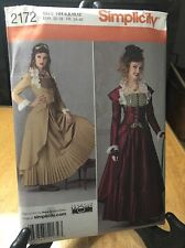 Simplicity 2172 Lady's sewing pattern Steampunk Victorian Gothic  Sz 6-12
