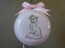 "Handmade Disney The Aristocats ""Duchess"" 3"" Glass Ball Ornament, USA Made, NEW!"