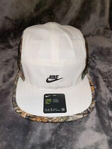 NIKE NWT Sportswear AW84 White/Outdoor Print 1-Size Adjustable Hat Unisex