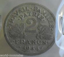 2 francs état français 1944 B : B : pièce de monnaie française