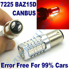 2 X 15W 7225 BAZ15D 27LEDs Stop Brake Tail Lamp Light Bulb P21/4W RED ERROR FREE