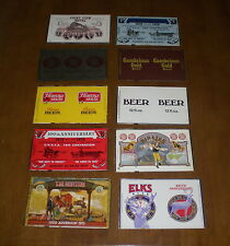 10 DIFFERENT PITTSBURGH BREWING COMPANY BEER CAN FLATS