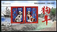 Aland Finland 2017  S/S China dogs. Chinese lunar year.  Artist M Mörck. MNH