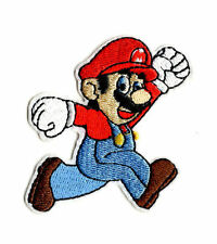 SUPER MARIO IRON ON / SEW ON PATCH Embroidered Badge Cartoon BROTHERS GAME PT60