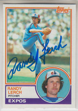 Autographed 1983 Topps Randy Lerch - Expos