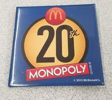 ORIGINAL 2012 MCDONALDS CREW PIN 20TH MONOPOLY