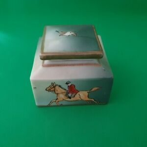 A RARE HAND PAINTED NORITAKE NIPPON INK WELL