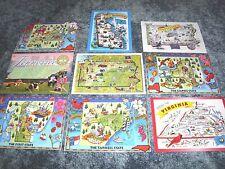 Lot of  9 Nice STATE MAPS, Virginia, New York, Delaware, PA, NC, TN --- Postcard