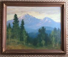 David Stirling: Plein Air Original Oil Painting Estes Park, Colorado 1930 35""