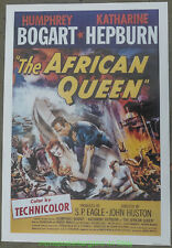 The African Queen Movie Poster 27x40 Reprint Katherine Hepburn Humphrey Bogart