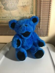 "Estate Find Vintage Blue Jointed Grateful Dead Plush Bear 12""/Yes PrIce/Correct"