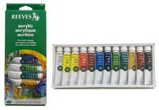 REEVES Acrylic Artist Colours x 12 Tubes