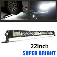 Ultra-thin 22inch 520W LED Work Light Bar Spot Flood Combo Truck Single Row 20""