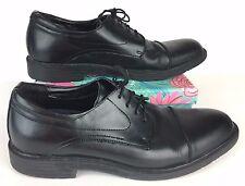 Men's Dr. Scholl's 2555119 Size 9W Wide Black Leather Oxfords Cap Toe Laced B2