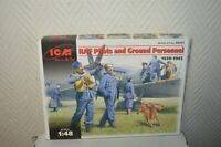 MAQUETTE ICM RAF PILOT AND GROUND PERSONNEL  1/48 MODEL KIT 48081 NEUF