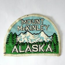Vintage MOUNT McKINLEY ALASKA Collectable Cloth Woven Patch Embroidered Badge