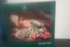 Jigsaw Puzzle 500 pieces Italian Feast Puzzle Pizza Wine Food Vegetables Sealed
