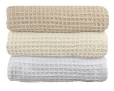 so Soft 100 Cotton 350gsm Waffle Blanket Single/queen Size in Three Colors Single White