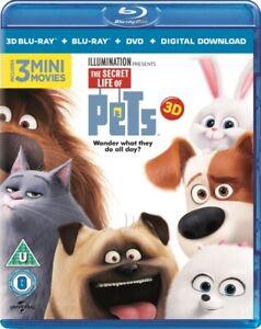 The Secret Life Of Pets 3D BLU-RAY- REGION FREE *NEW & SEALED - FAST UK DISPATCH