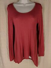 Sweet Tea's Women's Size Small High Low Pink Rose Top S