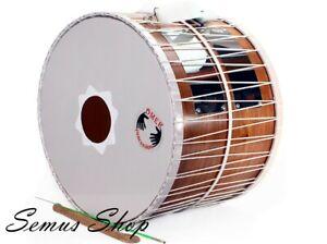 Orientalische Profi 53 cm. DAVUL Schlagzeug Trommel Dhol Rotbuche Handmade  (8)