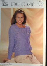 "Patons DK Knitting Pattern Jumper Sweater ladies  Size 30/44"""