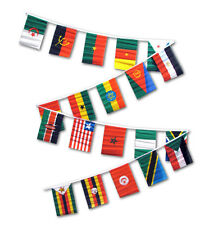 30ft String Flag Set of 20 African Country Flags 12x18 Pennants