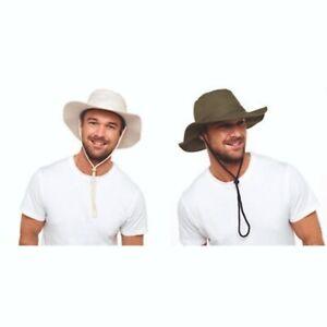Mens Womens Sun Hat Safari Wide Brim Aussie Bush Outback Cotton U.V Bucket NEW