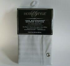 Hotel Style Herringbone Stripe 100 Waterproof Liner Grey 72 X 72in