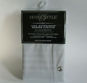 Mainstays Hotel Style waterproof fabric shower curtain in Gray 72 x 72