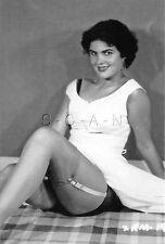 1940s-60s (4 x 6) Repro Risque Pinup RP- Up Skirt- Stockings- Panties- Garter