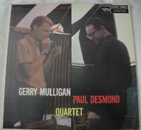 GERRY MULLIGAN PAUL DESMOND QUARTET VINYL LP ALBUM 1958 VERVE RECORDS MONO VG+