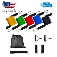 Resistance bands Set Workout with Handles Heavy Tube Exercise Fitness Gym 11PCs