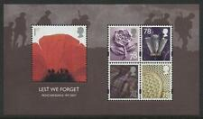 Great Britain - 2007 - SG MS2796 - SC 2530a - MNH -  Lest We Forget