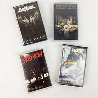 1980's Hard Rock Heavy Metal Cassette Tapes Set of 4 Ratt Dokken Fates Warning